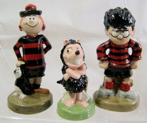 Wade Figurine Set - Minnie the Minx, Dennis & Gnasher - SOLD